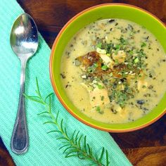 Inspired By eRecipeCards: Rosemary Chicken, Mushroom and Wild Rice Soup