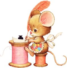 Printable - Mouse - Ruth Morehead   This was one of my VERY favorite notecards when I was younger! STILL love her!