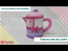 DIY Tetera con Tarro de Leche Victoria RodAcu - YouTube