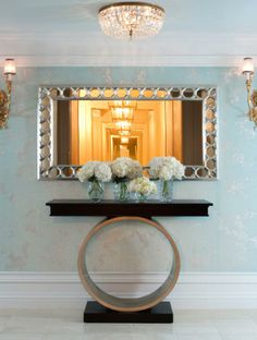Maya Romanoff is known for his amazing wall coverings. His experimentation with glass beads lead to this Beadazzled Flexible Glass Bead Wall covering collection that looks like a crystal or rhinestone studded wall.
