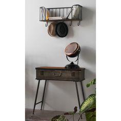 Černá stolní lampa s detaily v měděné barvě Geese Mic