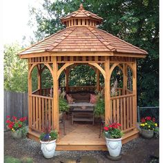 All What You Should Know Before Building a Patio, a Gazebo or a Pergola in your Backyard Hot Tub Gazebo, Wooden Gazebo, Gazebo Plans, Outdoor Gazebos, Backyard Gazebo, Pergola Patio, Backyard Landscaping, Pergola Kits, Small Gazebo
