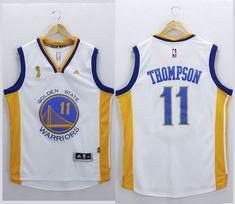 Warriors  11 Klay Thompson White New Champions Stitched NBA Jersey Cheap  Nba Jerseys 7ed9c803b