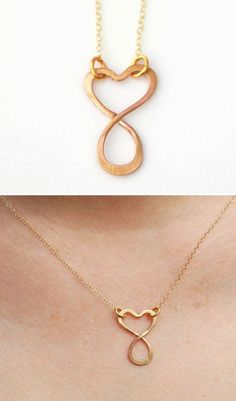 I would want this in silver but it's awesome! #Infinity #Heart #Necklace <3