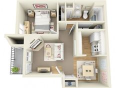 Keeley's Apartment layout