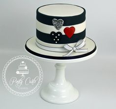 Black, White, Red Cake
