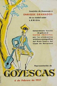 Comisión de homenaje a Enrique Granados de su ciudad natal, Lérida... 6 de febrero de 1957 (Biblioteca de Catalunya) Ephemera, Comic Books, Comics, Cover, Xmas, February, Cities, Artists, Cartoons