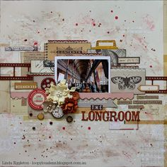 """Lou's World: October Afternoon """"Public Library"""" for All About Scrapbooks / Scrap Around the World Sept Mood Board"""