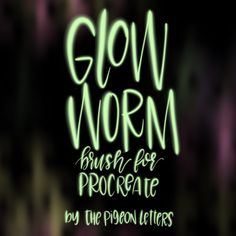 Glow+Worm+Custom+Procreate+Brush+by+ThePigeonLetters+on+Etsy