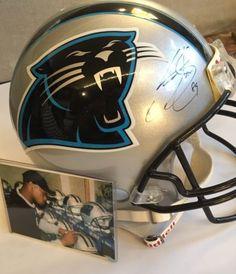 Steve Smith Carolina Panthers Authentic Autographed Riddell Pro-Line Helmet