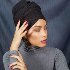 Headwraps For Natural Hair, Natural Hair Styles, Long Hair Styles, Afro, Head Wraps For Women, Hair Scarf Styles, Cute Scarfs, Virgin Hair Extensions, Head Wrap Scarf