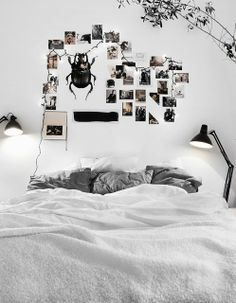 #Inspiration - #Chambre - #Bedroom - #Blanche