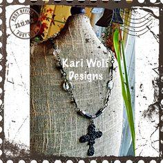 Steampunk Cross Statement Necklace  Created By: Kari Wolf Designs  www.KariWolfDesigns.etsy.com