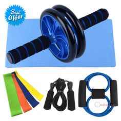 5-in-1 Abdominal Roller Push Up Bars, Ab Roller, Resistance Bands For Arms, Gym Workouts, At Home Workouts, Home Workout Equipment, Fitness Equipment, Pilates, Exercise Wheel