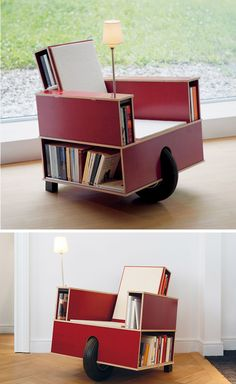 7 Creative Chairs All Book Lovers Will Appreciate | This Movable Chair Was  Designed To Allow