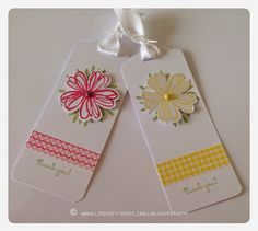 Stampin Up Flower Shop, Scalloped Tag Punch