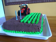 Creative Food Art, Creative Cakes, Tractor Birthday Cakes, Food Decoration, Cupcake Cakes, Cake Decorating, Birthdays, Food And Drink, Sweets