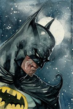 Roger Cruz: Batman watercolor