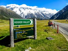 Mt. Cook in the background, Hooker Valley hike