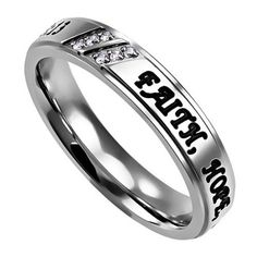 Christian: If you are looking for Rings with Bible Verses, this is Perfect. Show your Christianity with Style! - Bible Verse: FAITH, HOPE, LOVE - 1 CORINTHIANS 13:13 Style: Engraved Bible Quote. Three