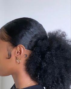 Slick Hairstyles, Baddie Hairstyles, Pretty Hairstyles, Braided Hairstyles, Hairstyle Ideas, Hair Ideas, Natural Hair Tips, Natural Hair Styles, Hair Inspo