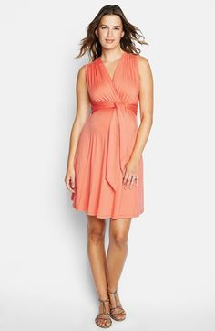 Maternal America Tie Front Maternity Dress available at #Nordstrom