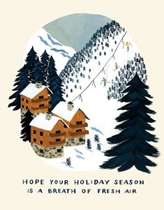 30 New Beautiful Holiday Cards Winter Illustration, Christmas Illustration, Illustration Art, Christmas Art, Winter Christmas, Xmas Cards, Holiday Cards, And So It Begins, Art And Craft Design