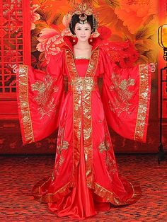 Traditional Chinese women's clothing.  Ideas for 'Reika', from 'Ryuu Gozen'.