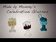 ▶ Rainbow Loom Celebration Glass or Party Goblet Charm from Made by Mommy - Happy New Year! - YouTube