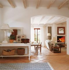 Spanish style homes – Mediterranean Home Decor Living Room Tiles, Room, Tile Floor Living Room, Home, House Interior, Home Deco, Mediterranean Home Decor, Spanish Style Homes, Interior Design