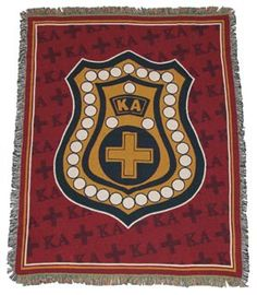 This makes your room shout Kappa Alpha Order whether its hung on the wall or thrown over a chair. Machine washable, two-ply cotton woven tapestry. 48 x 67  Quantities are limited. Order today!
