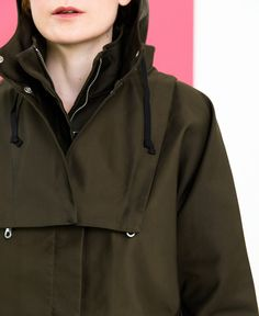 ONE COAT, ALL WEATHER, ALL WINTER. This water resistant, long-wearing raincoat by Folk is assured to last all winter with everyday wear. A classic, longline sty