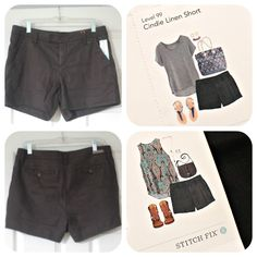 Level 99 Cindie Linen Short. Love the bottom top too. Stitch Fix