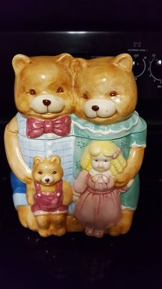 Goldilocks And The Three Bears, Bear Cookies, Covered Wagon, Fat Man, Vintage Cookies, Cookie Jars, Squirrel, Pepper, Birthday Gifts