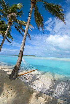 Aitutaki - at the Aitutaki Lagoon Resort & Spa.