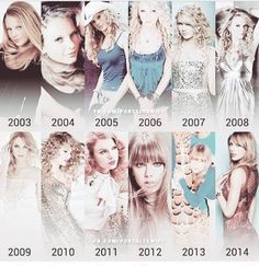 Taylor through the years <3