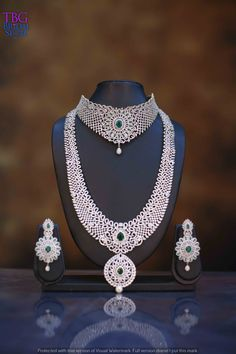 Are you looking for bridal jewellery on rent online? Get south Indian bridal jewellery sets for rent at TBG Bridal Store and look like a queen on your wedding day. American Diamond Jewellery, Diamond Jewelry, Indian Necklace, Pearl Necklace, South Indian Bridal Jewellery, Neck Choker, Bridal Stores, Queen, Bridal Sets