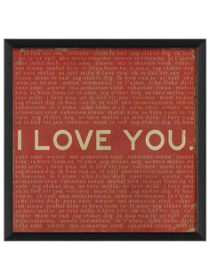 I Love You (Red) by Artwork Enclosed on Gilt Home