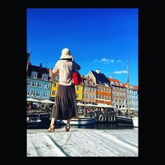 And there she was...#fashion #woman #denmark #copenhagen #blue #bluesky
