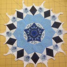 The first rosetta of my Passacaglia Quilt.