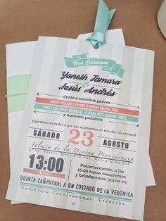 Invitaciones De Boda Económicas Bonitas Y Modernas - $ 16.00