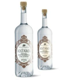 """A very good """"Tsipouro"""" label. Wine And Spirits, Wines, Vodka Bottle, Packaging Design, Greek, Label, Herbs, Herb, Design Packaging"""