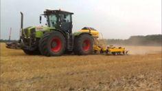 LMB Geertsema, Claydon Hybrid 6 meter aan het werk met Claas Xerion 3800...