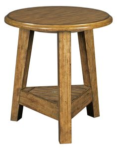 Broyhill Furniture - New Vintage Brown Round Lamp Table - Broyhill Furniture, Furniture Plans, Living Room Furniture, Living Rooms, Small End Tables, Round Side Table, Teak Table, Lamp Table, High Quality Furniture