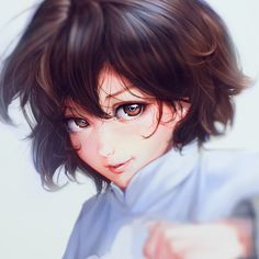 Find images and videos about girl, art and anime on We Heart It - the app to get lost in what you love. Anime Art Girl, Manga Art, Girl Cartoon, Cartoon Art, Cute Anime Character, Character Art, Aesthetic Art, Aesthetic Anime, Character Illustration