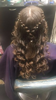 Prom hair #prettypromhair#curlybraid @AriAnnAsHairStyles