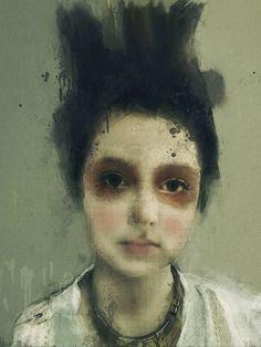 #Portrait by Lita Cabellut ... #painting #art
