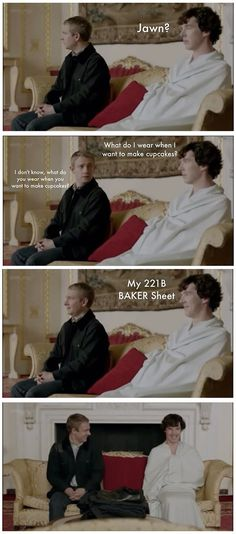real reason why Sherlock and John were giggling like school girls. <b>It's time to SherLOCK yourself in, cause the game is WatsON.</b> << no, to many puns (lol)<b>It's time to SherLOCK yourself in, cause the game is WatsON.</b> << no, to many puns (lol) Martin Freeman, Sherlock Fandom, Sherlock John, Sherlock Quotes, Watson Sherlock, Jim Moriarty, Sherlock Holmes Funny, Sherlock Comic, Sherlock Season