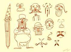 Moustache Doodles by marlenakate.deviantart.com