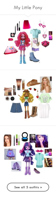 """""""My Little Pony"""" by naomi-mimi-davies-brown on Polyvore featuring My Little Pony, LE3NO, Hailey Jeans Co., Bobbi Brown Cosmetics, NYX, Marie Claire, Manic Panic NYC, San Diego Hat Co., Lancôme and LORAC"""